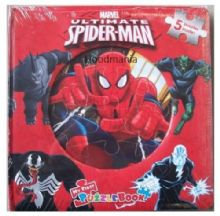 Marvel Ultimate Spiderman Jigsaw Puzzle Book 5 Puzzles Inside